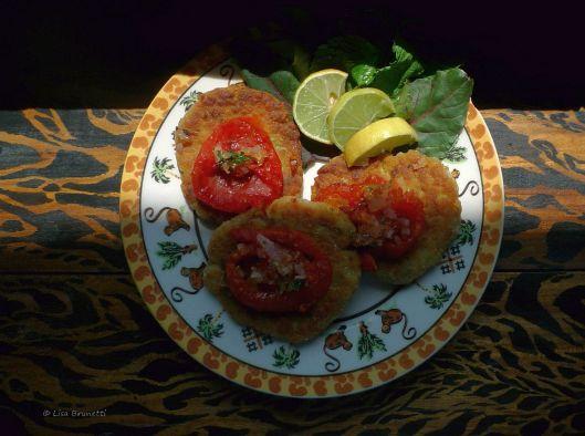 Quinoa Crisps & Sauteed Tomatoes