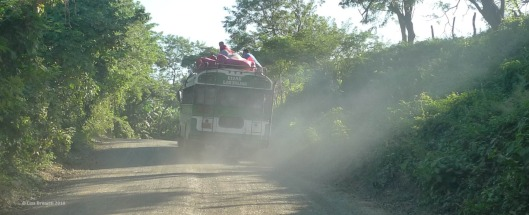 nicaragua bus dust and arroz