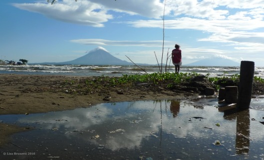 Looking across to Isla Ometepe - Ron and Debbie, are you there?