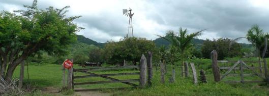 nicaragua windmill near hacienda iguana
