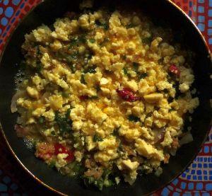 Quinoili mixture + eggs + cheese