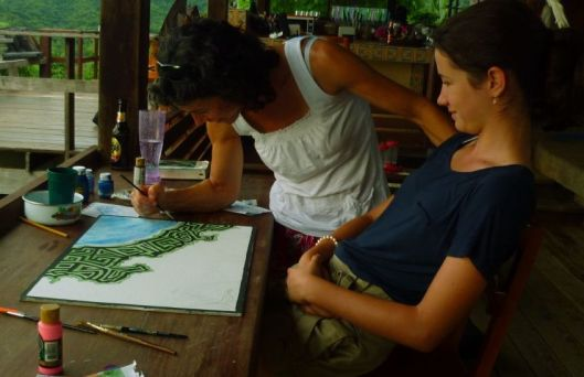 Mother and Daughter, Helene y Lise - I Can Do This! in Costa Rica - 2012
