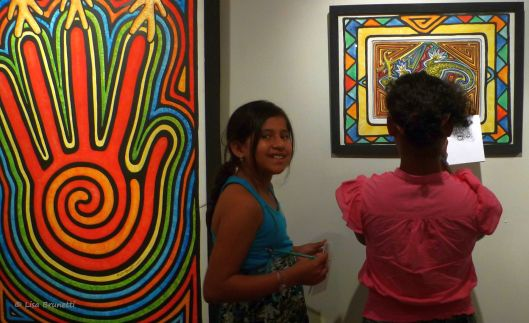 "from 2012 ""The Mola Series"" - Painting pictured at Portoviejo Museum"