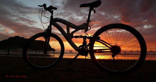 San Juan del Sur, Nicaragua Bicycle Sunset