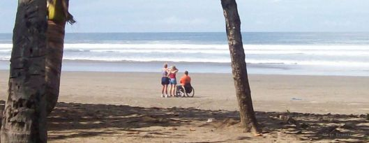 Don's first glimpse of the Pacific Ocean - Playa San Miguel, Costa Rica