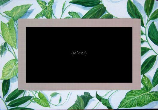 Tropical Foliage/Mirror - Acrylic
