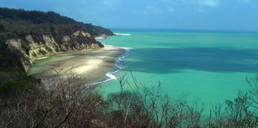 Clear skies produce this stunning jaw-dropping effect along Ecuador's Manabi coastline. (Punta Ballena near El Matal)