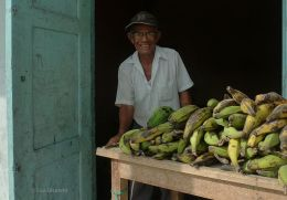 Papelito's Corner Plantains - Jama, Ecuador. After four years, he recently informed me that his real name is Walter!