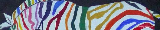 Mary's Rainbow Zebra - Painted With Love