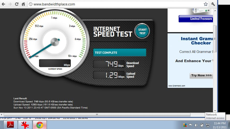 Connection Speed Envy!