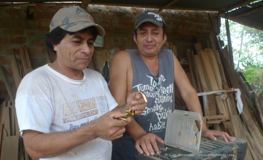 Brothers Amable and Luis consider ways to make a simple wooden swing!
