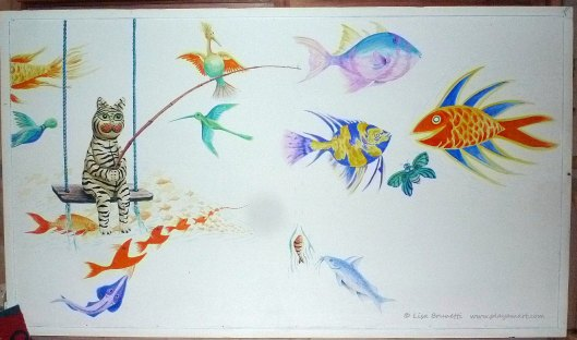 """""""IF FISH COULD FLY"""" in progress"""