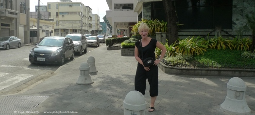 Barb leaving Malecon 2000 (Guayaquil)
