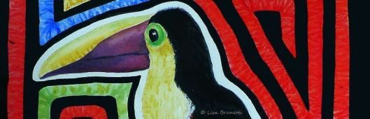 BOOKMARK TOUCAN MOLA f COLOR