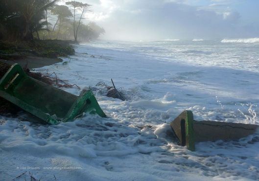 2012 brought extremely destructive thigh tides to the Playa San Miguel Costa Rica area.