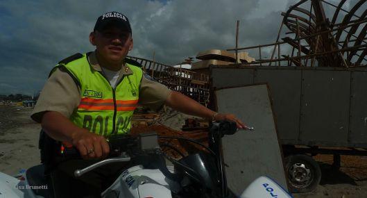 Jefferson Patrols the Playa Tarqui