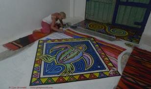 Working hard on the magic carpet!