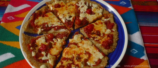 It's so easy!  Quinoa-crust pizza!