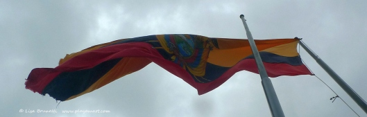 Ecuador Flag - Flying High Over Guayaquil!
