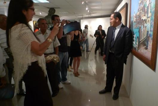 Ivo Uquillos - Sculptor/Painter - Retrospective Show - Manabi Ecuador