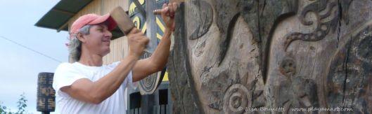 Sculptor Rycardo Alcivar - Jama Ecuador