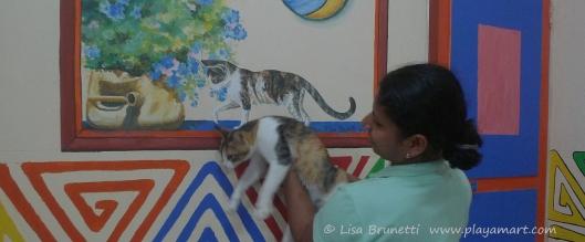 P1750052 restaurant cat painting silvana