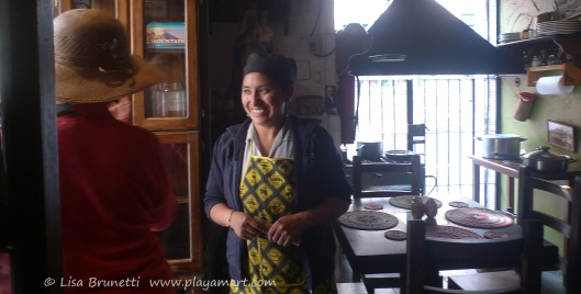 Beatrice, our waitress - What a natural beauty!