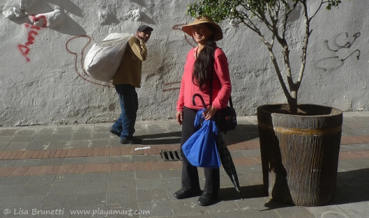 Quito - Great friend Marta, great light and strong shadows