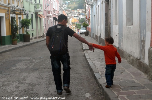 Father & Son - Quito Ecuador