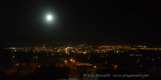 Full moon over Quito