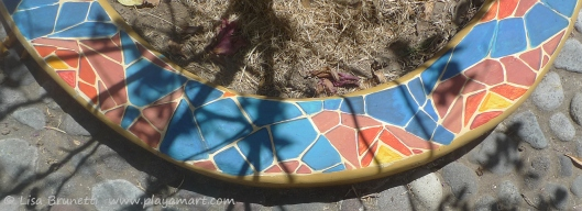 Painted mosaic for Sarah Dettman