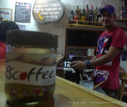Luchy whips up many fruit drinks as well as cafe specialties!