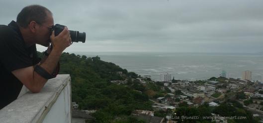 Bob at lookout - Bahia de Caraquez, Ecuador