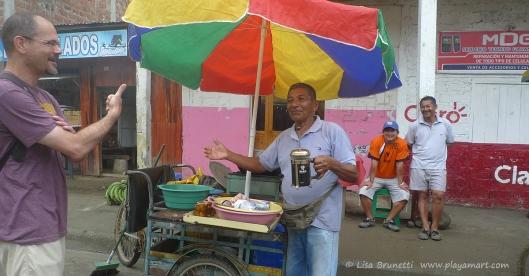 Always cheerful service at Jama's sidewalk cafe