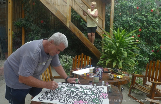 Mary took a short break, and John focused on his work!