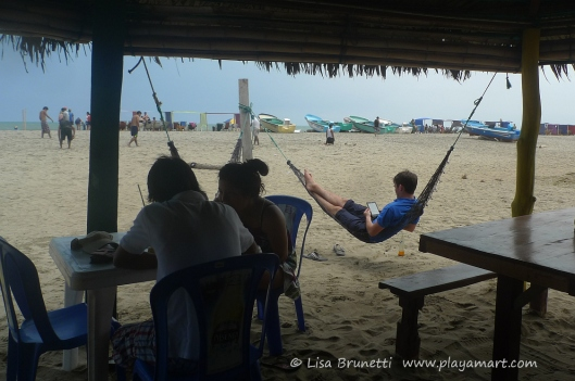 While enjoying Sunday morning encebollado at Canoa Beach, Ecuador, I witnessed others having carefree moments.