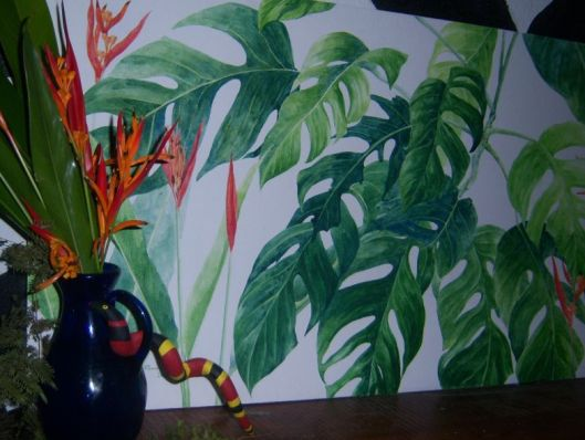 philodendron y heliconias y the coral snake DETAILl (1)