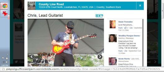Chris Cardman - Lead Guitarist - County Line Road - 2013