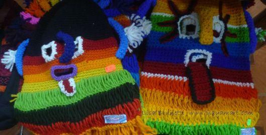 Sample Inti Raymi Masks - Otavalo Ecuador