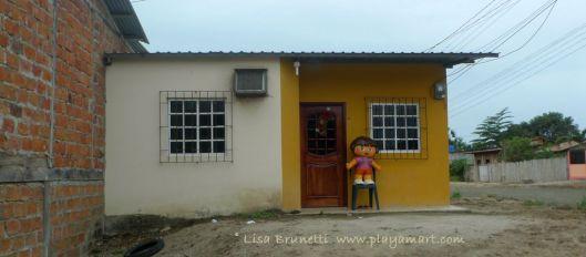 One of two effigies on a back street of Jama Ecuador!