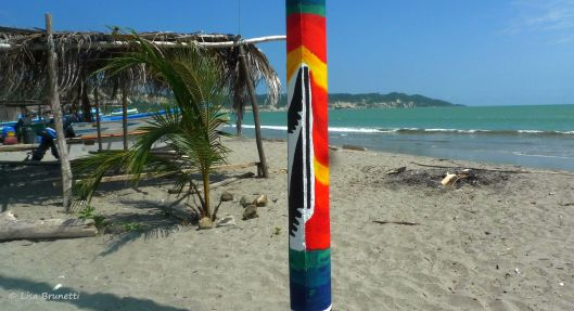 One of the prettiest posts painted in 2012 anchored the end of the road...