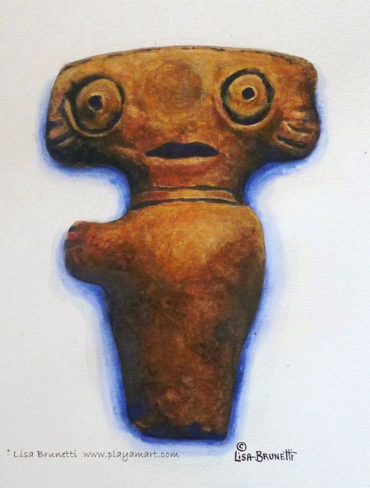 """ET"" - The original artifact lives in Museo Bahia de Caraquez.  I said ""Hello to him this morning!"