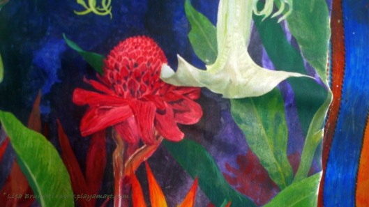 Ginger, Datura - Details (Acrylic)