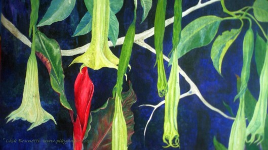 Datura, Ginger, Heliconia Details -