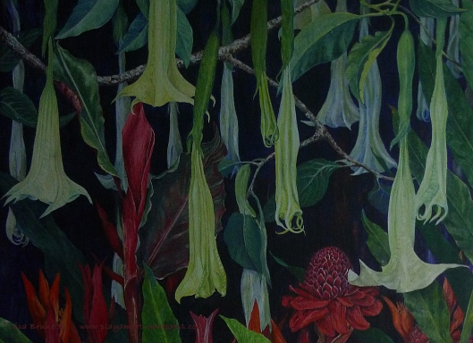 "Night Garden - (detail) - Acrylic - 38"" x 52"""