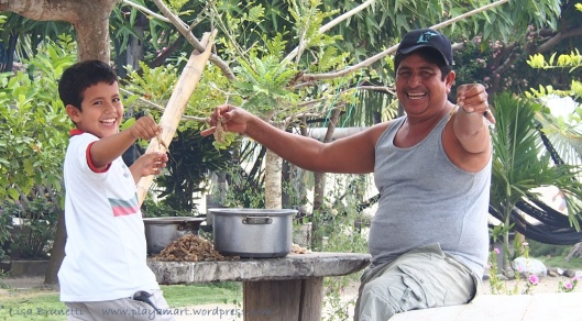 """What's for lunch?"" -Ramon Peeling Shrimp - La Division, Manabi, Ecuador"
