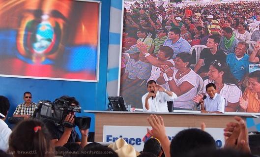 President Rafael Correa visited Jama - August 09, 2014