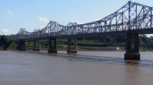 Mississippi River Bridge between Vidalia Louisiana and Natchez, Mississippi