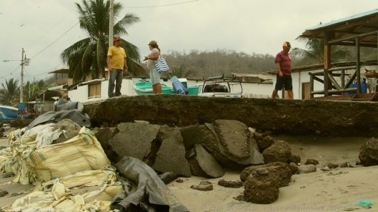 Do the oversized sand bags work?   Seeing is believing...