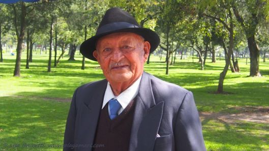This gentleman has taken photos at the same park location in Quito for over 70 years.  At age 90, he says that he has never been sick or in the hospital.